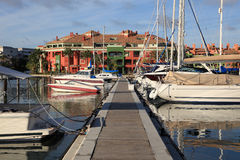 Marina in Sotogrande, Spain. Marina in Sotogrande, Costa del Sol, Andalusia, Spain Royalty Free Stock Photography
