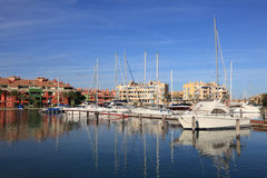 Marina in Sotogrande, Spain. Marina in Sotogrande, Costa del Sol, Andalusia, Spain Royalty Free Stock Photo
