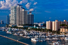 Marina in South Beach Royalty Free Stock Photo