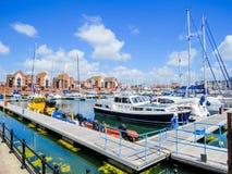 Marina souveraine de port, Eastbourne Photos stock