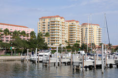 Marina in St. Petersburg, Florida Royalty Free Stock Image