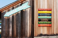 Marina Store Signs Royalty Free Stock Image