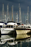Marina by a stormy day Stock Images