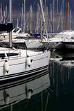 Marina by a stormy day Royalty Free Stock Images