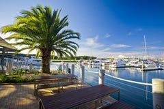 Marina on a sunny day with blue sky Royalty Free Stock Photos