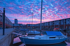 Marina sunrise Royalty Free Stock Image