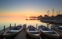 Marina Sunrise Stock Foto