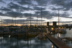 Marina at sunrise Royalty Free Stock Photo