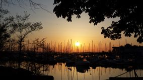 Marina sunrise Stock Photo