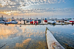 Marina Sunrise II Royalty Free Stock Photo