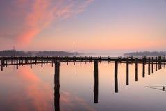 Marina sunrise Stock Image