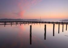 Marina sunrise Stock Photo