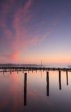 Marina sunrise Stock Photography