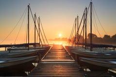 Marina sunrise Royalty Free Stock Image