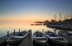 Marina sunrise Royalty Free Stock Photos
