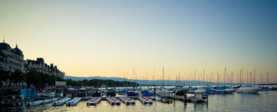 Marina sunset Stock Image