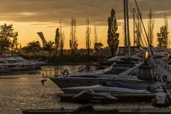 Marina at sunset Royalty Free Stock Photography