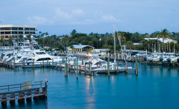 Marina at Sunset in Jupiter Royalty Free Stock Photo