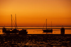 Marina at sunset Stock Photography