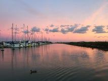 Marina sunset royalty free stock photo