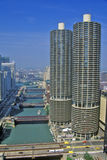 Marina Towers Apartments, Chicago, Illinois Stock Photos