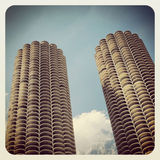 Marina Towers Chicago Stock Photo