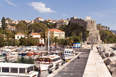 Marina of town Herceg Novi - Montenegro Royalty Free Stock Photo