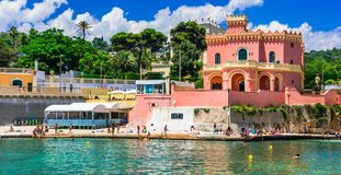 Marina Tricase - beautiful fishing village in Puglia,Italy. Impressive Tricase village,view with old castle and sea,Puglia,Italy royalty free stock photo