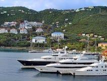Marina on a Tropical Island Royalty Free Stock Photos