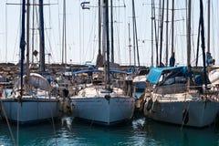 Marina. Tropical marina with moored yachts Royalty Free Stock Photography