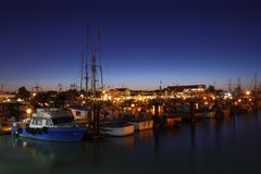 Marina Twilight, Steveston Royalty Free Stock Images