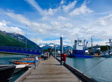 The marina at valdez. A jetty servicing local craft on a quiet sunday in alaska Royalty Free Stock Photos