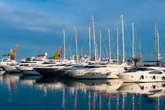 Marina in Valencia Royalty Free Stock Photography