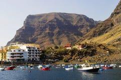 The marina of Valle Gran Rey, La Gomera Stock Photo