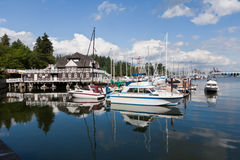 Marina in Vancouver Stock Photography