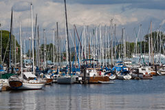 Marina in Vancouver Stock Images