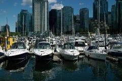 Marina, Vancouver BC Canada royalty free stock photography