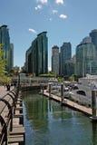 Marina, Vancouver BC Kanada fotografia stock