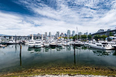 Marina in Vancouver. Boats and yachts in marina, Vancouver, British Columbia, Canada Stock Photography