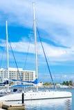 Marina at Varadero beach in Cuba Royalty Free Stock Photography