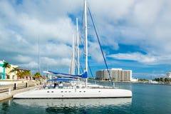 Marina at Varadero beach in Cuba Royalty Free Stock Image