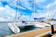Marina at Varadero beach in Cuba Stock Photography