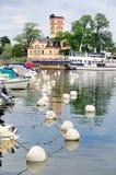 Marina of Vastervik, Sweden Stock Photos