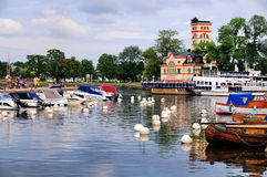 Marina of Vastervik, Sweden Royalty Free Stock Images