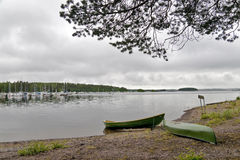Marina view in Finland Imatra Royalty Free Stock Images