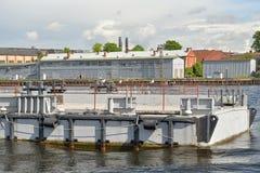 Marina view large the Lieutenant Schmidt embankment in Saint-Pet Royalty Free Stock Photos
