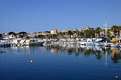 Marina and village of Bandol, in France Stock Images