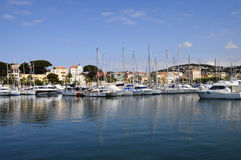 Marina and village of Bandol in France Stock Photo