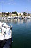 Marina and village of Bandol in France Royalty Free Stock Image