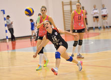 Marina Vujovic try to save a point during the match between CSM Bucharest and CS Stiinta Bacau Stock Photo